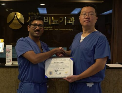 Dr. Irfan Shaikh was hosted by Dr. Park for Penile Implant Training